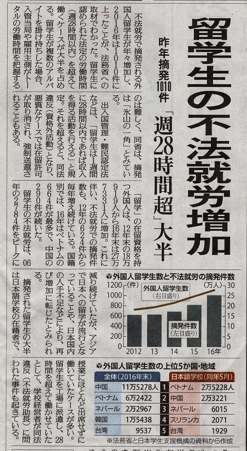 留学生の不法就労が増加!? - ニュース&コラム   福岡 外国人ビザ ...